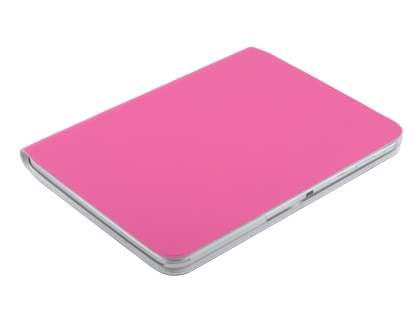 Premium Slim Genuine Leather Portfolio Case with Stand for Samsung Galaxy Tab 3 10.1 - Pink