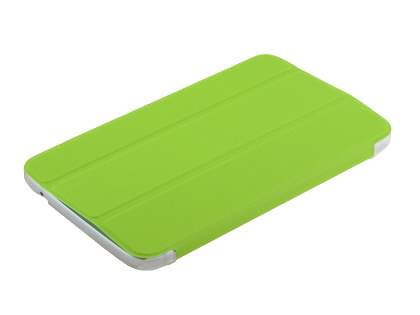 Samsung Galaxy Tab 3 7.0 Book-Style Case with Stand - Green/Frosted Clear
