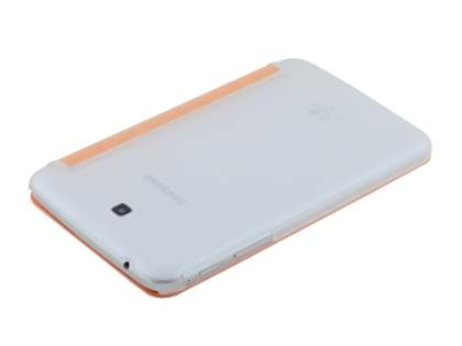 Samsung Galaxy Tab 3 7.0 Book-Style Case with Stand - Orange/Frosted Clear
