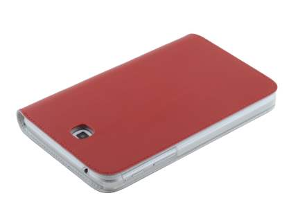 Premium Slim Genuine Leather Portfolio Case with Stand for Samsung Galaxy Tab 3 7.0 - Red