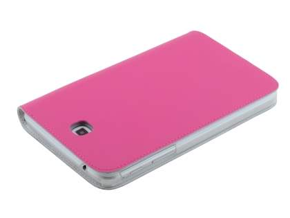 Premium Genuine Leather Slim Portfolio Case with Stand for Samsung Galaxy Tab 3 7.0 - Pink
