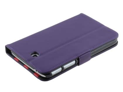 Samsung Galaxy Tab 3 7.0 Synthetic Leather Flip Case with Dual-Angle Tilt Stand - Purple