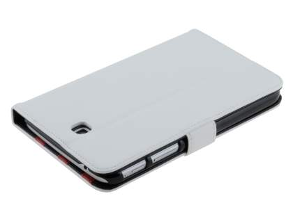 Synthetic Leather Flip Case with Dual-Angle Tilt Stand for Samsung Galaxy Tab 3 7.0 - Pearl White