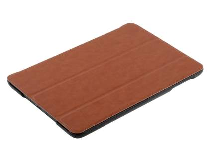 Premium Slim Synthetic Leather Flip Case with Stand for iPad mini - Brown
