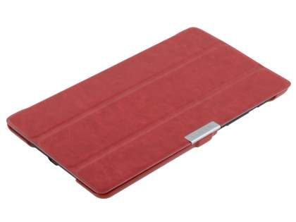Slim Synthetic Leather Flip Case with Stand for Asus Google Nexus 7 2013 - Red