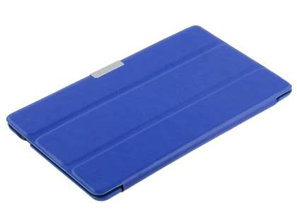 Premium Slim Synthetic Leather Flip Case with Stand for Asus Google Nexus 7 2013 - Blue
