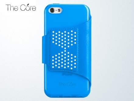 Momax The Core Polka Dots Flip Case for iPhone 5c - Blue