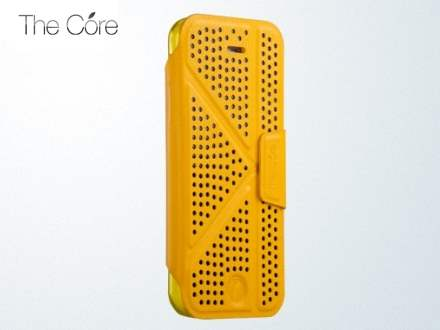 Momax The Core Polka Dots Flip Case for iPhone 5c - Yellow Leather Flip Case