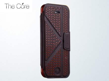 Momax The Core Polka Dots Flip Case for iPhone 5c - Coffee Leather Flip Case