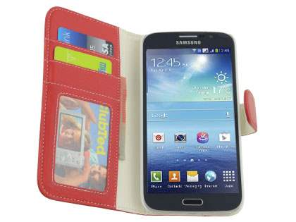 Samsung Galaxy Mega 5.8 I9150 Synthetic Leather Wallet Case with Stand - Classic Black