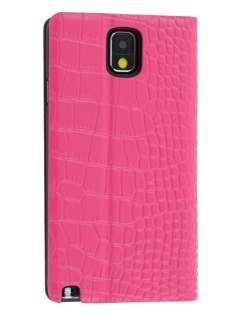 TS-CASE crocodile pattern Genuine leather Wallet Case for Samsung Galaxy Note 3 - Pink Leather Wallet Case
