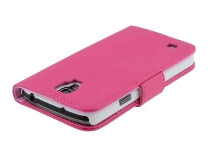 Samsung Galaxy S4 Active I9295 Synthetic Leather Wallet Case with Stand - Pink