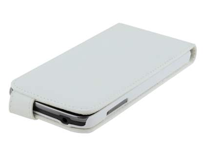 Synthetic Leather Flip Case for Samsung Galaxy S4 Active I9295 - Pearl White