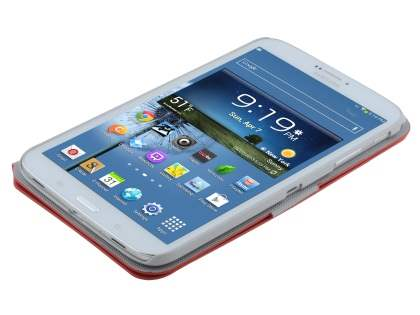 Samsung Galaxy Tab 3 8.0 Book-Style Case with Tilt Stand - Red