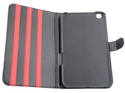 Samsung Galaxy Tab 3 8.0 Synthetic Leather Flip Case with Dual-Angle Tilt Stand - Red