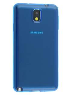 Transparent TPU Case for Samsung Galaxy Note 3 - Blue