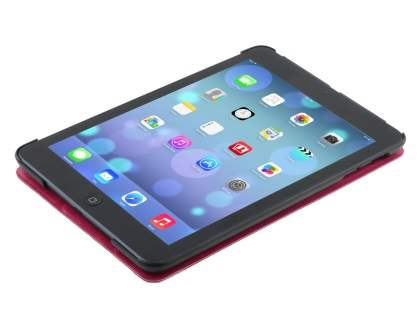 Premium Slim Synthetic Leather Flip Case with Stand for iPad mini - Pink