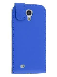 Samsung I9500 Galaxy S4 Synthetic Leather Flip Case - Blue