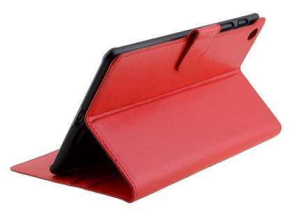 Synthetic Leather Wallet Case with Stand for Asus Google Nexus 7 2013 - Red Leather Wallet Case