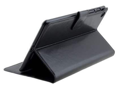 Synthetic Leather Wallet Case with Stand for Asus Google Nexus 7 2013 - Classic Black Leather Wallet Case