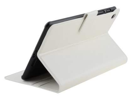 Synthetic Leather Wallet Case with Stand for Asus Google Nexus 7 2013 - Pearl White Leather Wallet Case