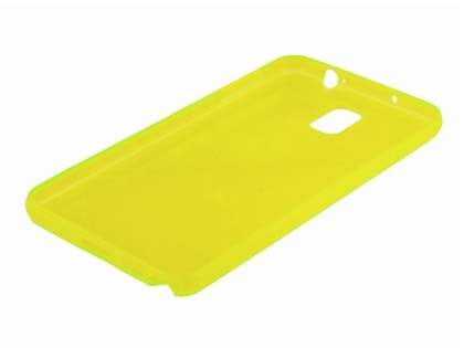 Transparent TPU Case for Samsung Galaxy Note 3 - Yellow