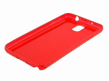 Samsung Galaxy Note 3 Transparent TPU Case - Red