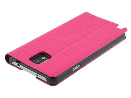 TS-CASE crocodile pattern Genuine leather Wallet Case for Samsung Galaxy Note 3 - Pink