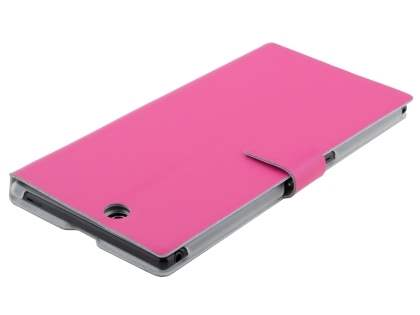 Slim Genuine Leather Portfolio Case for Sony Xperia Z Ultra - Pink