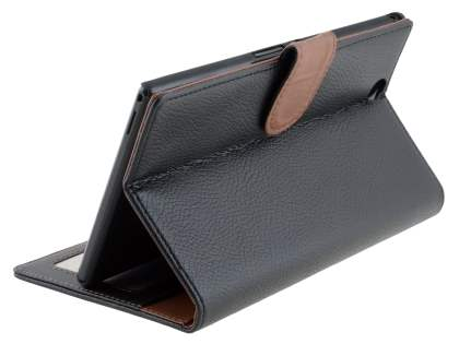 Slim Synthetic Leather Wallet Case with Stand for Sony Xperia Z Ultra - Classic Black