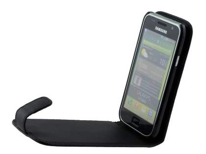 Samsung Galaxy S I9000 Synthetic Leather Flip Case - Classic Black