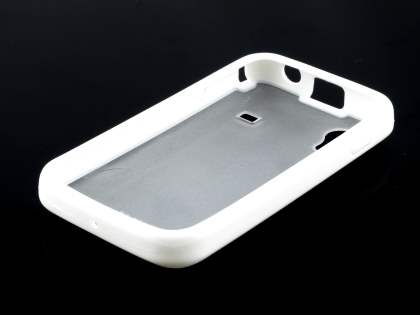 TS-CASE Dual-Design Case for Samsung Galaxy Ace S5830 - White/Frosted Clear