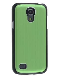 Brushed Aluminium Case for Samsung Galaxy S4 mini - Green/Black Hard Case