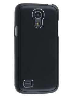 Brushed Aluminium Case for Samsung Galaxy S4 mini - Classic Black Hard Case