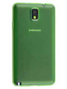 Samsung Galaxy Note 3 Transparent TPU Case - Green