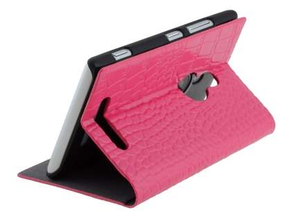 TS-CASE crocodile pattern Genuine leather Book-Style Case for Nokia Lumia 925 - Pink