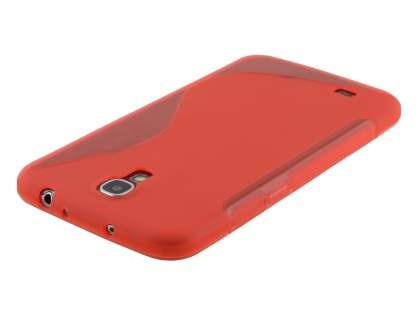 Samsung Galaxy Mega 6.3 I9200 Wave Case - Frosted Red/Red