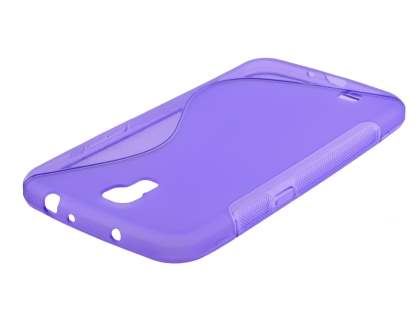 Samsung Galaxy Mega 6.3 I9200 Wave Case - Frosted Purple/Purple