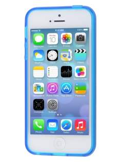 Apple iPhone SE/5s/5 Frosted TPU Gel Case - Frosted Blue