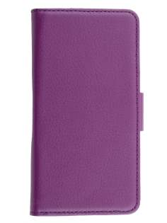 Sony Xperia ion LTE lt28i Slim Synthetic Leather Wallet Case with Stand - Purple