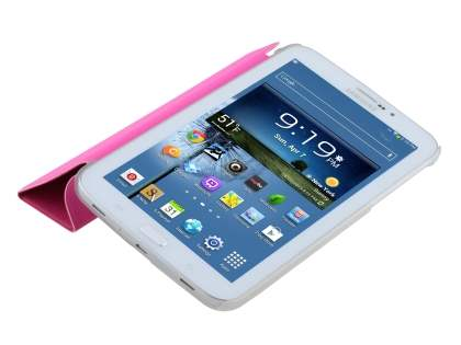 Samsung Galaxy Tab 3 7.0 Book-Style Case with Stand - Pink/Frosted Clear