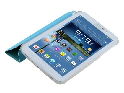 Samsung Galaxy Tab 3 7.0 Book-Style Case with Stand - Blue/Frosted Clear