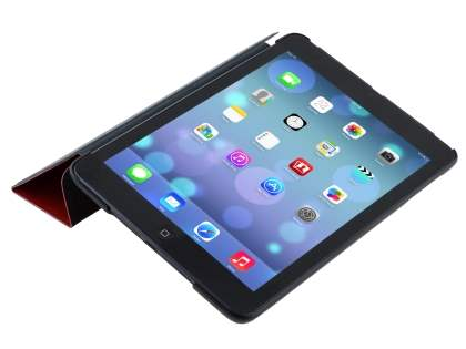 Premium Slim Synthetic Leather Flip Case with Stand for iPad mini - Red