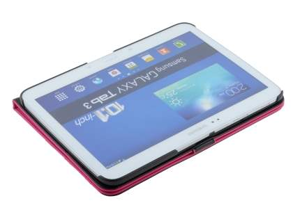 Samsung Galaxy Tab 3 10.1 Synthetic Leather Flip Case with Dual-Angle Tilt Stand - Pink