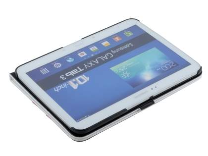 Samsung Galaxy Tab 3 10.1 Synthetic Leather Flip Case with Dual-Angle Tilt Stand - Pearl White