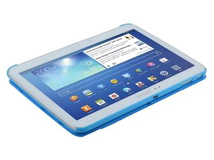 Premium Slim Synthetic Leather Flip Case with Stand for Samsung Galaxy Tab 3 10.1 - Blue