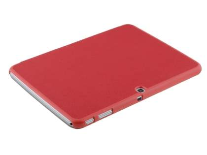 Premium Slim Synthetic Leather Flip Case with Stand for Samsung Galaxy Tab 3 10.1 - Red