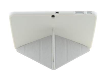 Premium Slim Synthetic Leather Flip Case with Stand for Samsung Galaxy Tab 3 10.1 - Pearl White