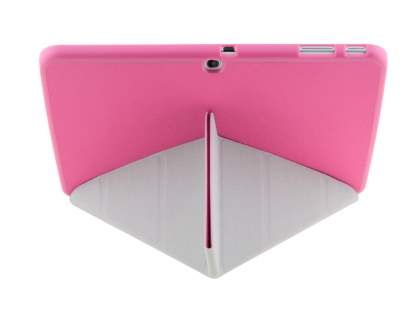 Premium Slim Synthetic Leather Flip Case with Stand for Samsung Galaxy Tab 3 10.1 - Pink