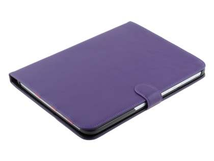 Samsung Galaxy Tab 3 10.1 Synthetic Leather Flip Case with Dual-Angle Tilt Stand - Purple